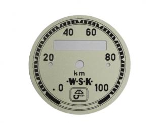 Cyferblat tarcza licznika WSK kremowa