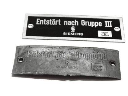 Tabliczka główki ramy DKW Nz350