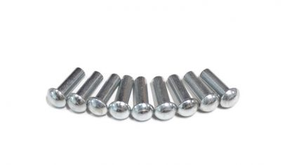 Nowe nity tylnej zębatki, średnica 5 mm, długość 16 mm, cena dotyczy kompletu.