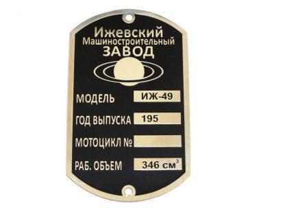 Tabliczka znamionowa Iż49