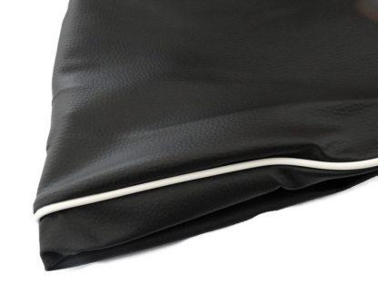 Pokrowiec siedzenia WSK 125/175 czarny biała kedra