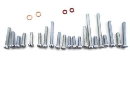 Śruby silnika, uszczelki-miedź, fibra WSK 125 komplet