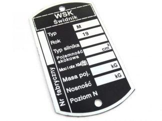 Tabliczka znamionowa WSK