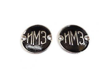 Emblematy na zbiornik M72, Irbit czarne