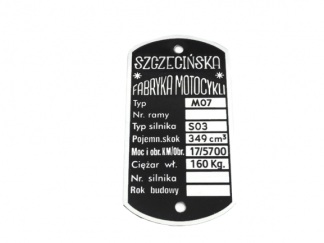 Tabliczka Junak M07