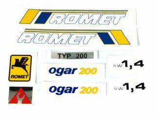 Komplet naklejek zestaw naklejki Romet Ogar 200