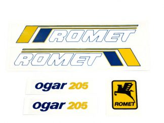 Komplet naklejek zestaw naklejki Romet Ogar 205