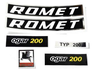 Komplet naklejek zestaw naklejki Romet Ogar 200 czarne