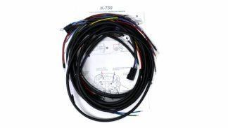 Instalacja elektryczna z koszem, wiązka i schemat, masa K750