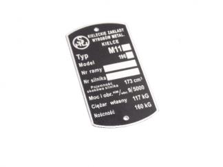 Tabliczka znamionowa SHL M11