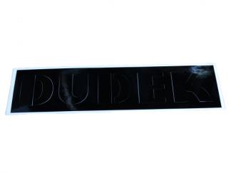 Naklejka szablon pokryw bocznych WSK 125, 175 Dudek czarna