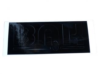 Naklejka szablon pokrywy schowka WSK 125,175 Bąk czarna