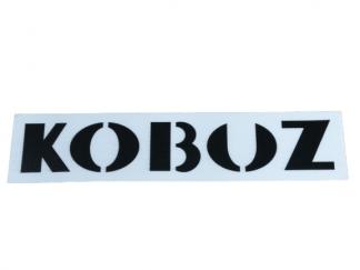 Naklejka szablon pokryw bocznych WSK 175 Kobuz biała