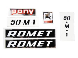 Naklejki Romet Motorynka Pony czarne