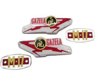 Emblemat logo napis znaczek bak SHL M17 Gazela