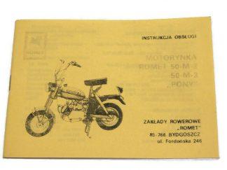 Katalog Instrukcja Obsługi Motorynka Romet Pony