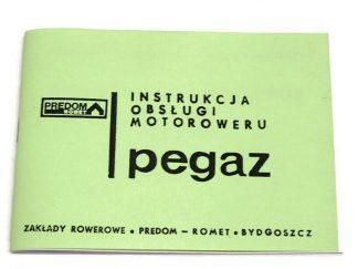 Katalog Instrukcja Obsługi Motoroweru Pegaz