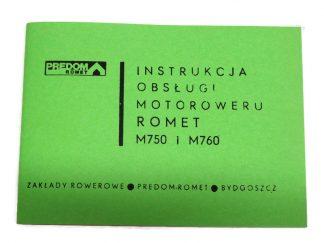 Instrukcja Obsługi Motoroweru Romet M750 M760