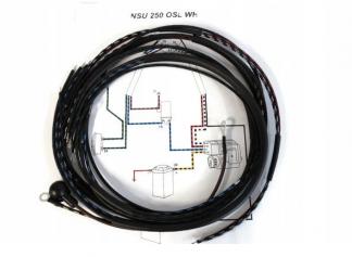 Instalacja elektryczna NSU 250 OSL WH oplot