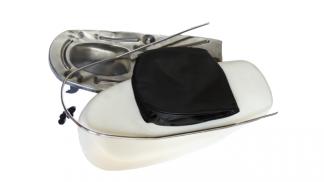 Blacha siedzenia + gąbka odlewana komplet WSK B3 typ 2